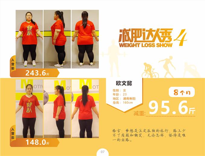 欧文懿魔鬼减肥训练营减重95.6斤案例