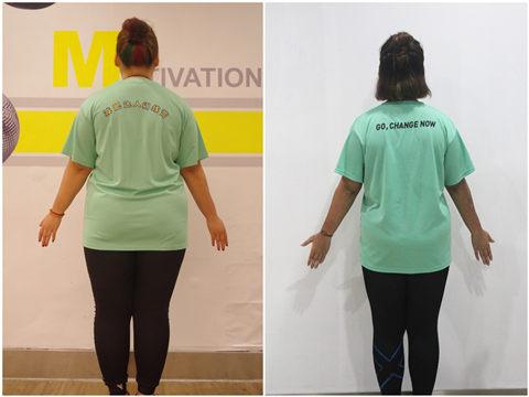 瘦身营瘦身后背面对比照